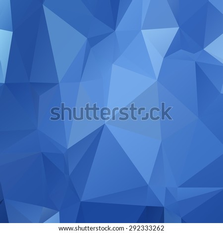 Geometric low poly graphic repeat pattern made out of triangular  - stock vector