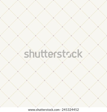 Geometric modern vector seamless pattern. Abstract texture with pink dotted elements - stock vector