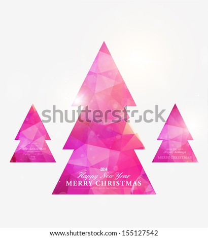 Geometric mosaic christmas tree - stock vector