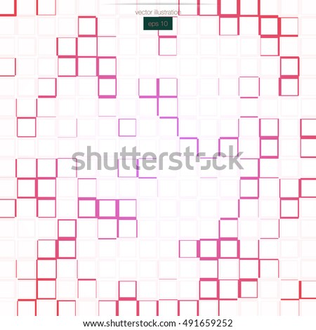 Geometric mosaic pink background. Vector illustration