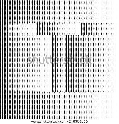 Geometric Optical Illusion Letter T - stock vector