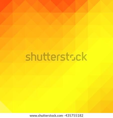 Geometric orange yellow background with triangular polygons. Vector illustration. - stock vector
