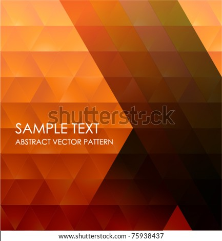 Geometric Pattern, Abstract Vector Background. - stock vector