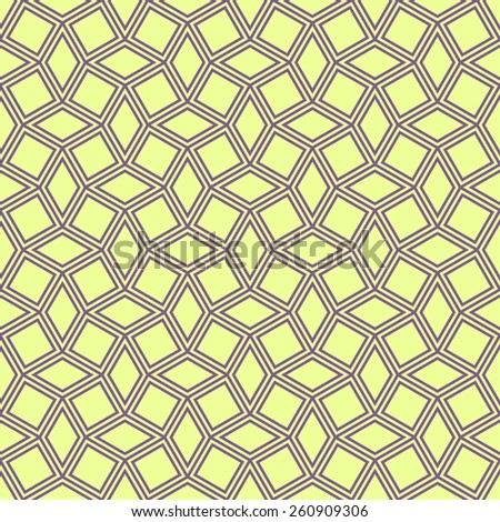 geometric pattern of squares and rhombuses. seamless vector background - stock vector