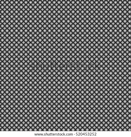 Geometric pattern of tiny gray circles on a dark background. vector pattern, simple background