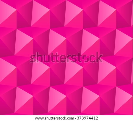 Geometric pattern of triangles. Pink - stock vector