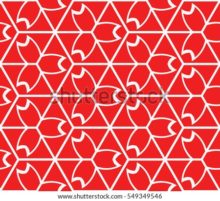 geometric pattern of various cube. vector illustration. red color