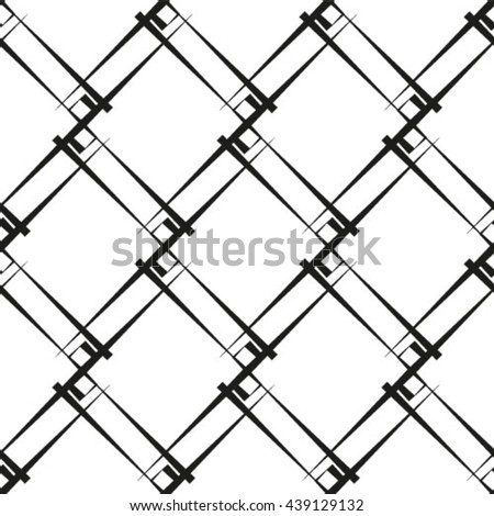 Geometric pattern, seamless vector background. - stock vector