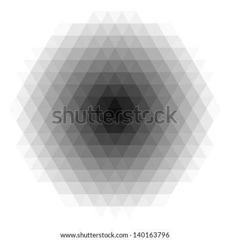 Geometric pattern. Vector template - stock vector