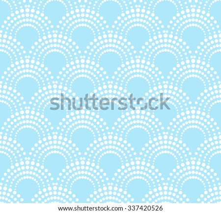 geometric pattern with dotted arches - stock vector