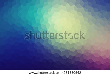 Geometric pattern with triangles. Vector illustration for web design - stock vector
