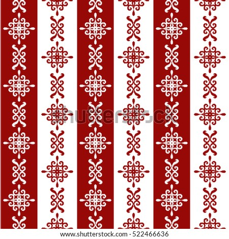 Geometric Patterns Composed Of SquaresTemplate For Embroidery And Elements Interior Design In The