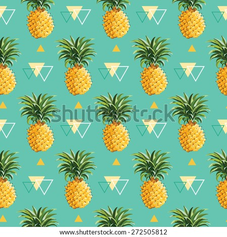 Pineapple pattern background - photo#27