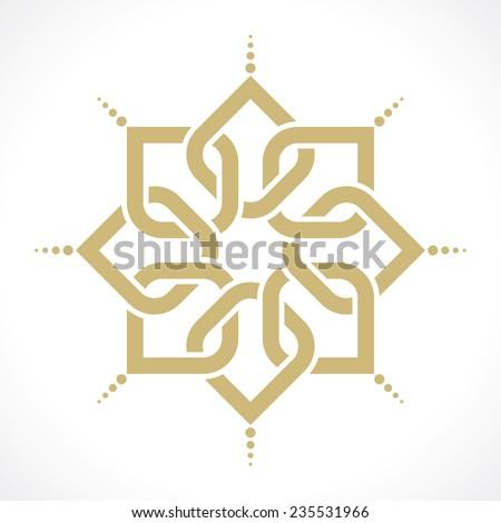 geometric radiant arabic pattern - stock vector