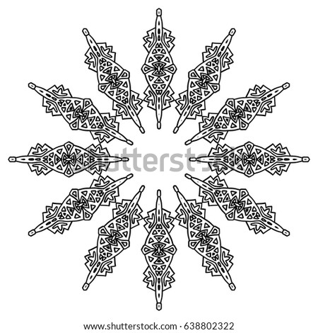 Funny Seamless Pattern African Wild Warrior Stock Vector 589382510