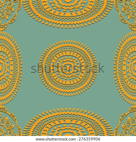 Geometric Seamless pattern. Classic background. Vector illustration - stock vector