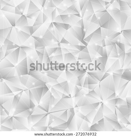 Geometric seamless pattern  from triangles. Light grey vector illustration. Background for banner, flyer, brochure, presentation, etc. - stock vector