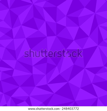 Geometric seamless pattern  from triangles. Purple vector illustration. - stock vector
