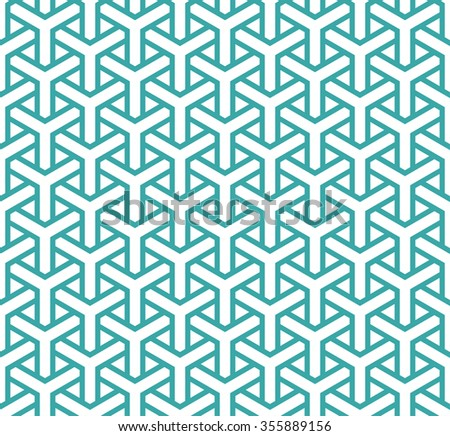 Geometric seamless pattern in asian style. Lattice, triangular, Puzzle, Maze-like traditional background. - stock vector