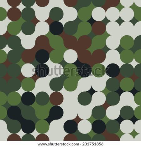 Geometric seamless pattern. Military. Vector illustration - stock vector