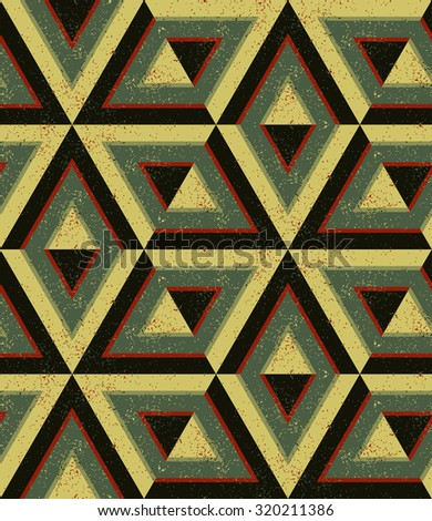 Geometric seamless pattern, minimalistic polygon art, five colors, each color in a separate group, contrasting palette, vector EPS 8 - stock vector
