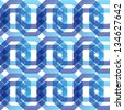 geometric seamless pattern of octagons, vector background - stock vector