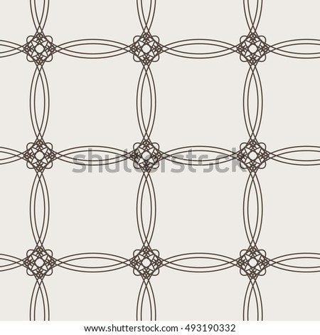 Geometric seamless pattern. Openwork lattice of fine lines. Simple regular background. Vector illustration