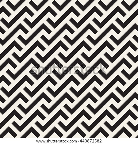 Geometric seamless pattern. Simple regular background. Vector illustration with herringbone or puzzle. - stock vector