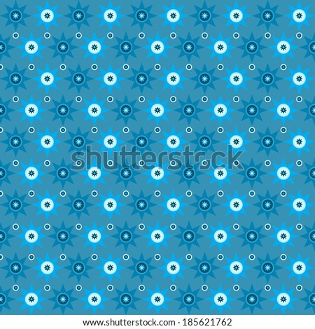 Geometric seamless pattern. Structure of stars and circles. Vector.