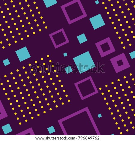 geometric seamless pattern trendy memphis design retro background template