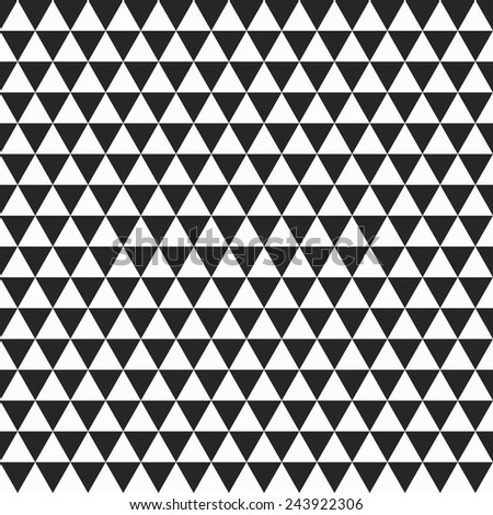 Geometric seamless pattern, white and black texture - stock vector