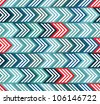 Geometric seamless pattern with color arrows, vector background. - stock vector
