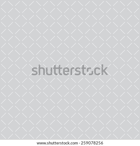 Geometric seamless pattern with discontinuous lines. Texture with repeating diamonds. Monochrome. Vector illustration - stock vector