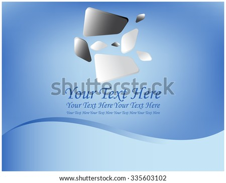Geometric shapes on abstract blue background - stock vector