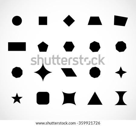 Geometric shapes set vector - stock vector