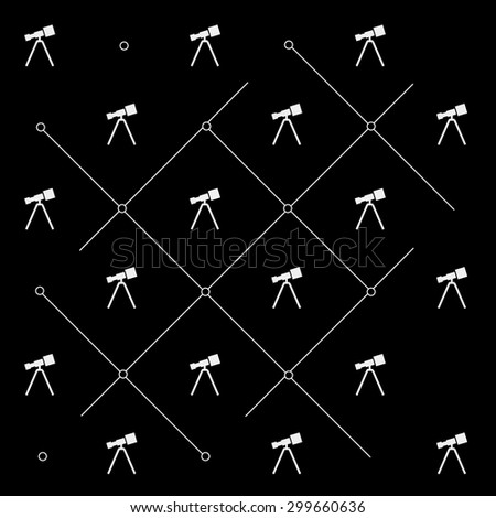 Geometric simple black and white minimal pattern, space, telescope