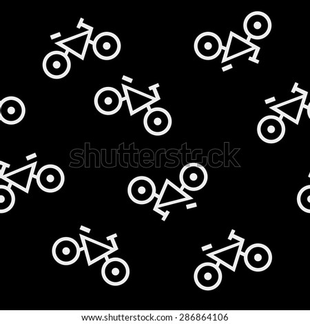 Geometric simple monochrome minimalistic pattern of impossible shapes - stock vector
