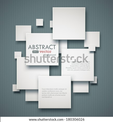 Geometric squares background with copyspaces. EPS10 vector image.