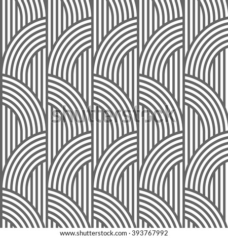 Geometric striped seamless pattern. Vector background