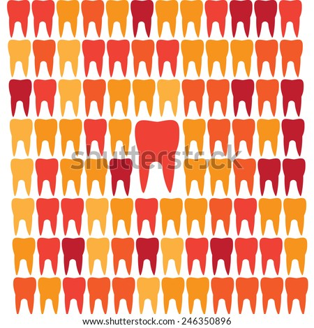 Geometric teeth grid leadership abstract background isolated - stock vector