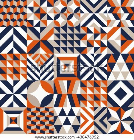 Geometric tile pattern. Vector illustration. - stock vector