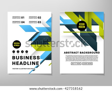 Geometric Vector Business Cards Backgrounds Set Triangles Pattern Flat Style Design