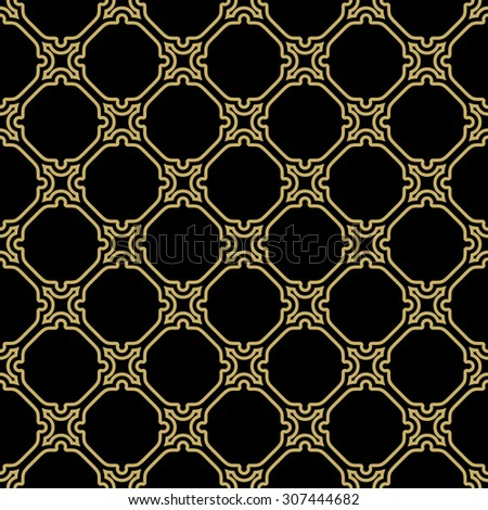 Geometric vector golden grid. Seamless fine abstract texture - stock vector