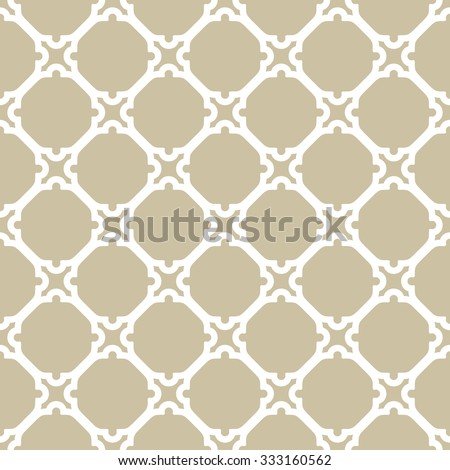 Geometric vector ornament with fine elements. Seamless golden and white pattern for wallpapers and backgrounds - stock vector