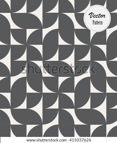geometric vector pattern, a quarter circle rotates each - stock vector