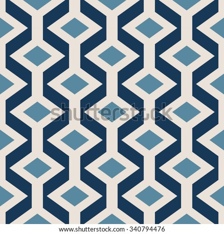 Geometric vector pattern in retro style, modern stylish texture, abstract background, wrapping paper, 50s, 60s, 70s fashion style, trendy fabric, simple ornament, tissue samples for design - stock vector