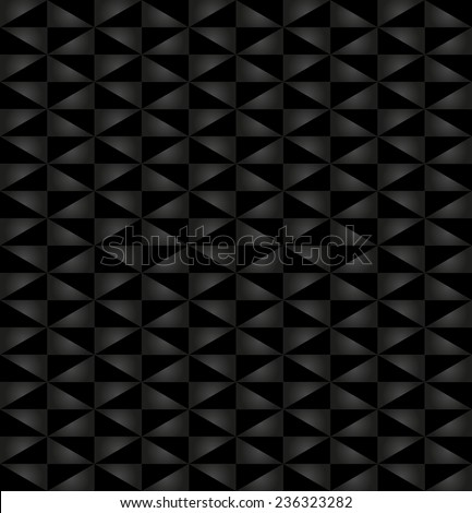 Geometric vector pattern with triangular dark elements. Seamless abstract ornament for wallpapers and backgrounds