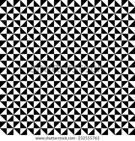 Geometric vector pattern with triangularblack and white elements. Seamless abstract ornament for wallpapers and background - stock vector