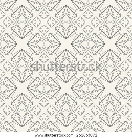 Geometric vector seamless pattern - stock vector