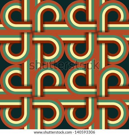 Geometric Vintage Retro Seamless Pattern Illustration - stock vector
